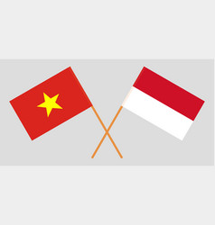 Indonesian and vietnamese flags vector