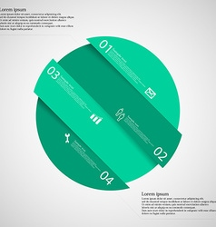 Infographic template with green circle askew vector