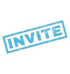 Invite Rubber Stamp vector image