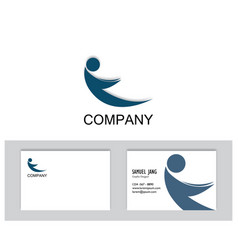 logo irmage with business card template vector image