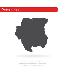 map suriname isolated black vector image