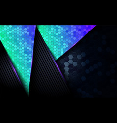 modern dark abstract background with shinny blue vector image