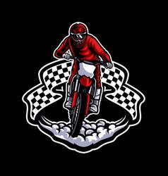 Motocross logo vector