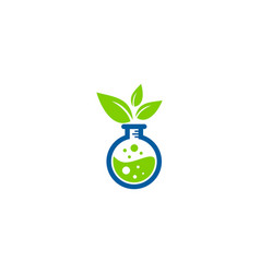 Nature science lab logo icon design vector