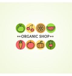 Organic Shop Concept vector