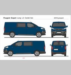 Peugeot expert combi long van l3 2016-present vector