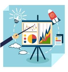 Presentation of business development concept vector image