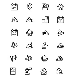 Real Estate Line Icons 4 vector