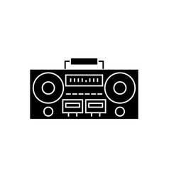 record player - tape recorder icon vector image
