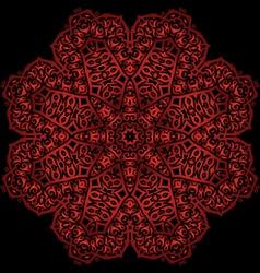 red metal flower vector image