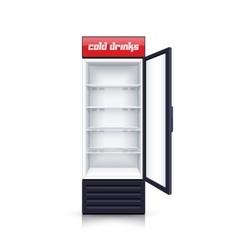 Refrigerator Empty Open Realistic vector