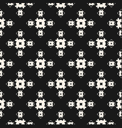seamless pattern monochrome geometric floral vector image