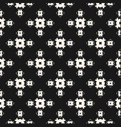 seamless pattern monochrome geometric floral vector image
