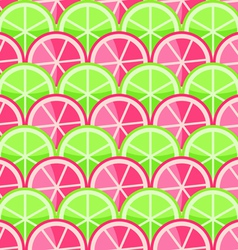 Seamless Pattern with Grapefruits vector image