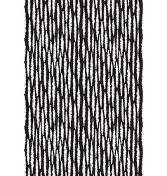 Seamless pattern with stripes Black and white hand vector image