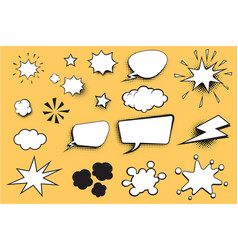 Set comic bubble vector