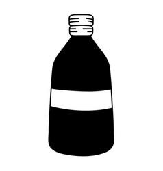 Silhouette long mason jar preserve design vector