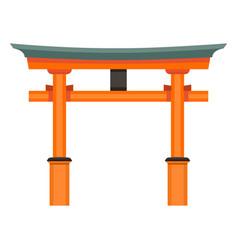 Single color flat shinto torii gate icon vector