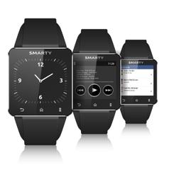 Smart watch set vector