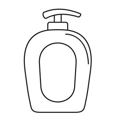 soap gel dispenser icon outline style vector image