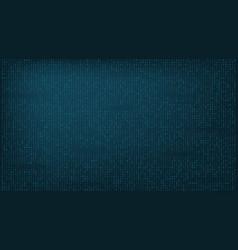 Stream binary matrix code on full screen vector
