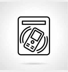 subway ticket terminal simple line icon vector image