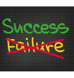Success Failure vector image
