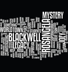 The blackwell legacy text background word cloud vector