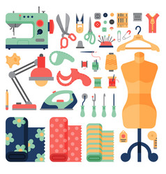 Thread supplies hobby accessories sewing equipment vector