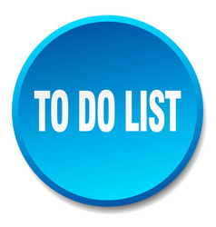 To do list blue round flat isolated push button vector