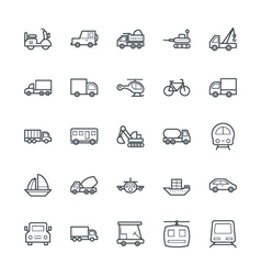 Transport Cool Icons 2 vector image