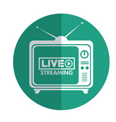 tv media live streaming vector image
