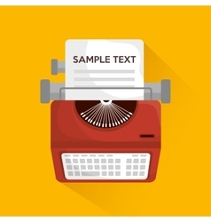 Typewriter machine design vector