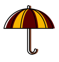 umbrella protection symbol vector image