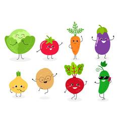 veggie set n1 vector image
