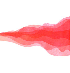 watercolor transparent wave red colored background vector image