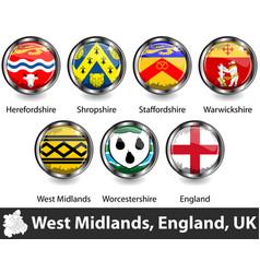West midlands uk vector