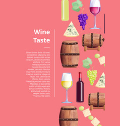 wine taste visualization text vector image