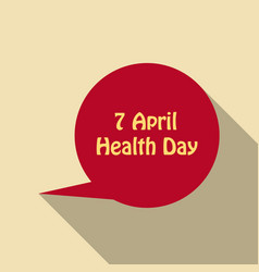 World health day concept thinking circle with 7 vector