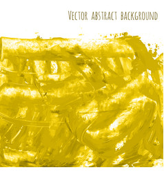 yellow golden watercolor texture vector image