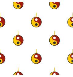 Ying yang symbol pattern seamless vector