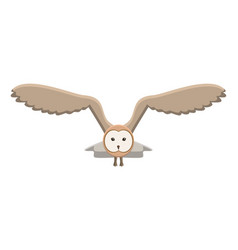 animal graphic owl object vector image