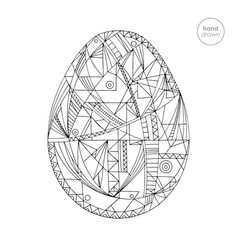 easter egg hand drawn vector image