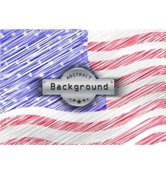 Grunge pattern flag USA background vector image
