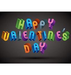 Happy Valentines Day typography vector image vector image