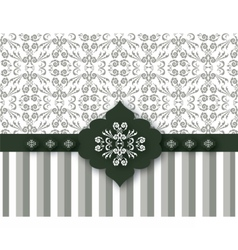 Vintage Card with stripes ornaments vector image
