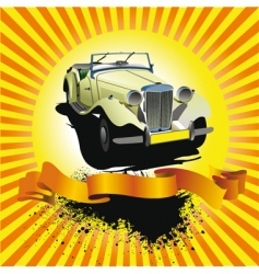 car club poster vector image