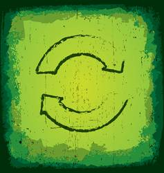 grunge recycle icon vector image