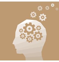 Head thinks vector image