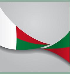 madagascar wavy flag vector image vector image